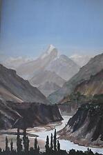 Mountain Landscp Himalayas Oil Painting c1990 James RM Arnold (20/21stC British)