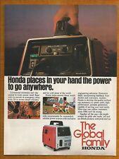 HONDA Generators Vintage 1980 Print Ad # 25 9