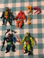 Vintage MOTU He-Man Figure Lot- Trapjaw, Merman, Beastman, & Whiplash