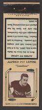 1933-34  DIAMOND MATCHBOOKS TYPE 3  PIT LEPINE   INV A3199