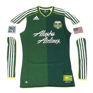 Portland Timbers MLS Adidas Men's Green Long Sleeve On-Field Jersey