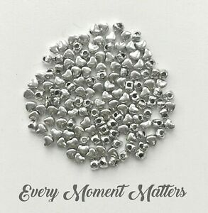 100 x Tibetan Silver HEART SPACER 4mm Beads Charms Jewellery Findings