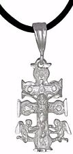 Sterling Silver .925 Crucifix Caravaca Cross Charm Pendant | Made in USA