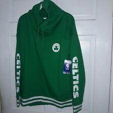 Boston Celtics basketball Funnel turtle neck Sweatshirt NBA shirt NEW - Ladies L