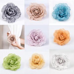 Drapery Tiebacks Magnetic Curtain Decoration Buckle Clips Holdbacks Flower