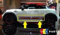 MINI NEW GENUINE R55 R56 R57 R58 R59 JCW SIDE STRIPES STICKERS PAIR SET RED