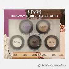 "1 NYX Hot Single Eyeshadow Runway Chic - 5 Piece Set ""HSSET 01"" *Joy's cosmetics"