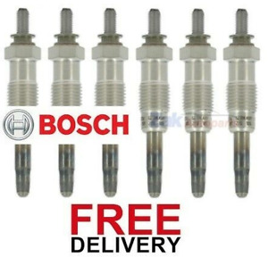 FOR LAND ROVER RANGE ROVER P38 2.5 (95-02) 6 X BOSCH HEATER GLOW PLUGS SET *NEW*