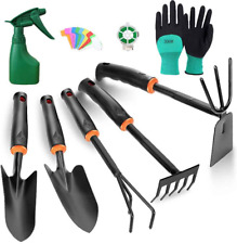 Toorggoo Gardening Tools Set, High Carbon Steel Heavy Duty Hand Garden Tools Kit