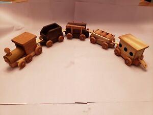 Custom, Handmade Wooden Train Set