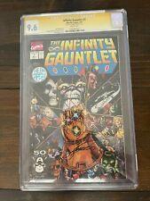 "The Infinity Gauntlet #1cgc 9.6 ""Signed"""