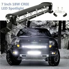 7'' 18W Flood LED Light Work Bar Lamp Driving Fog Offroad SUV 4WD Car Boat Truck