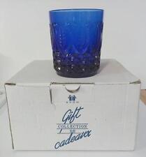 "Avon Royal Sapphire Cobalt Set of 4 Rocks Tumblers Glasses 3 3/4"" New In The Box"