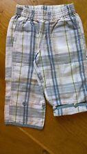 Designer Cakewalk Blue Beige Cream Green Check Shorts/Trousers  2 yrs 92 cm