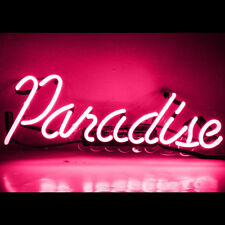 Pink Paradise Neon Sign Light  Beer Bar Club Party Wall Poster Home DecorL