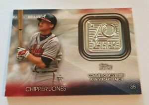 Topps 2021 Series 1  ' Chipper Jones - Braves ' - 70th Anniversary Patch Card