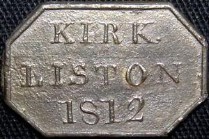 1812 Kirkliston Lothians Scotland Communion Token Burz 3896