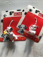 Disney Enesco 101 Dalmatians Miniature Christmas Ornaments Set of 2 New