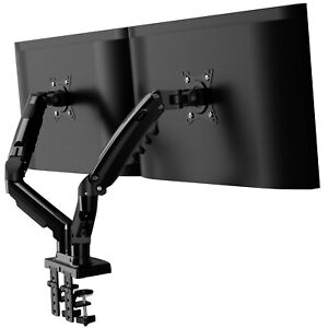 """Invision Dual Arm Monitor Mount 19""""-32"""" Screens Desk Stand Bracket with Clamp"""