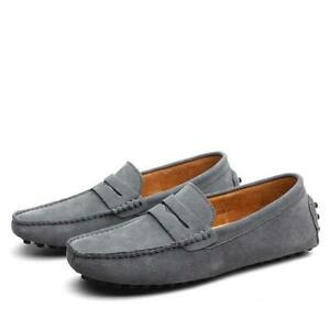 Zapatos Casuales Para Hombre Moda Elegante Mocasines Cuero Genuino Lujo Negocios
