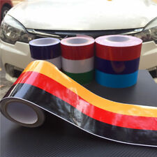 "197"" Three Color German Flag Car Racing Hood Stripes Vinyl Decal Sticker 5 meter"