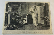 1861 newspaper cartoon ~ AWFUL APPARITION!