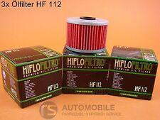 HIFLO HF 112 Filtro de Aceite Motocicleta Motor HONDA KAWASAKI 3 piezas