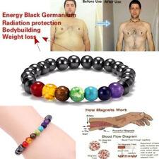 7 Chakra Magnetic Therapy Bead Stone Hematite Bracelet Healing Diffuser Women