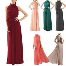 Clubwear Patternless Plus Size Maxi Dresses for Women