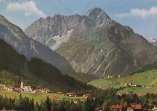 Blick auf Riezlern , Hirschegg und Mittelberg , Ansichtskarte 1963 gelaufen