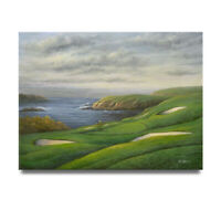 NY Art- Beautiful Ireland Greens Golf Course 36x48 Oil Painting on Canvas!