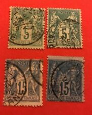World Stamps France 1876 Commerce  Issue Lot 693