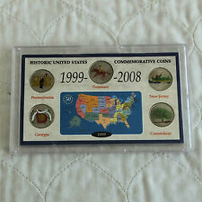USA 1999  COLOURIZED STATE QUARTERS SET - cased