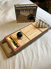 Vintage TOMY Strolling Bowling Wind Up Game  W/ Box & Working Ball Nice!