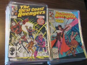 Lot of 78 Different West Coast Avengers #1-102 Comic Book Run 1985 NICE