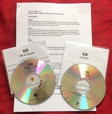U2 2 x Joshua Tree interview Blue CDr Acetate Promo + Transcript