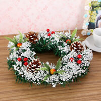 Christmas Wreath Hanging Garland Xmas Party Ornament Door Wall Decors 7.8'' NEW