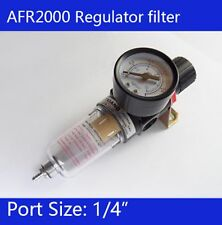 "1/4"" Compressed Air Regulator Filter Water Trap Oil  Fitting AFR2000 AWT03"