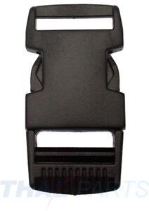 10 St. Steckschnalle 25mm gerade Kunststoff Acetal Steckverschluss für Gurtband