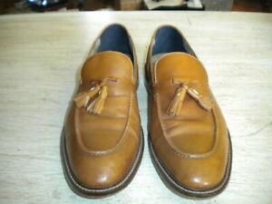 Mens Banana Republic Ortholite Italian Leather Beige Tassel Loafers Casper 10 M