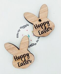 Easter Gift Tags Tokens Friends Family Card Crafts Happy Or  Hoppy Easter Engrav