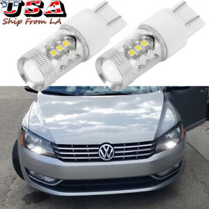 LED DRL Daytime Running Light Bulbs 6000K Xenon White For 2012-2015 VW Passat