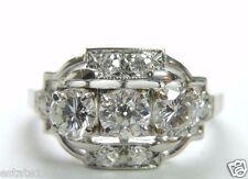 Antique Vintage Art Deco Diamond Engagement Platinum Ring Size 7 EGL USA Fine