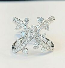 Gorgeous Right Hand Ring! 18 kt White Gold 1.19 carats Diamond Ring Size 6.5