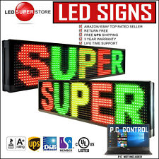 """Led Super Store 3C/Rgy/Pc/2F/Ap 22""""x98"""" Programmable Scroll Message Display Sign"""