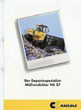 Prospekt 1999 Kaelble VG 27 Müllverdichter brochure broschyr construction