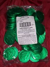 Milk Chocolate Gold Coins 1lb Bag candy New GREEN Wrappers 50 cent piece half $