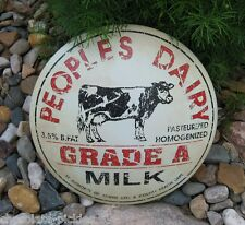 Metal Tin Dairy Cow MILK Cap SIGN*Primitive/French Country Farmhouse Wall Decor