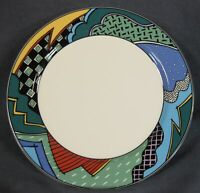 Christopher Stuart Rave HK100 Dinner Plate Optima Multicolor Rim (A) Please Read