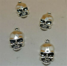 P1029 15pc Tibetan Silver SKULL Charm Beads Pendant accessories wholesale